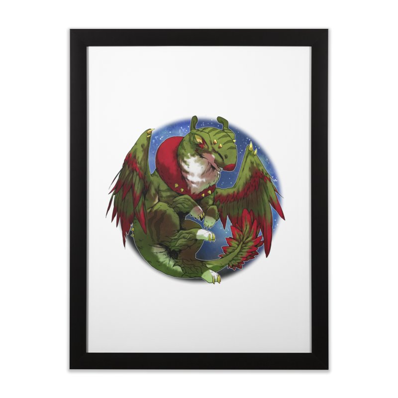 Yuletide Joy Snowglobe Home Framed Fine Art Print by AdeptGamer's Merchandise