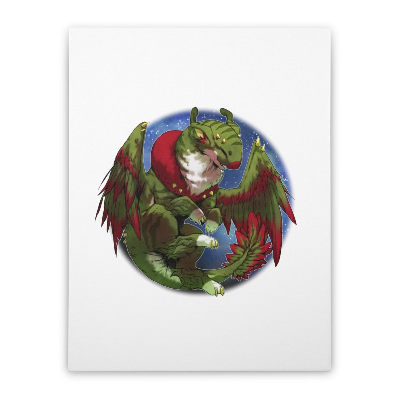 Yuletide Joy Snowglobe Home Stretched Canvas by AdeptGamer's Merchandise