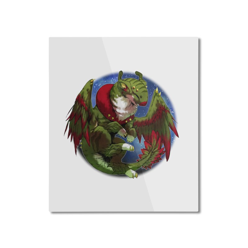 Yuletide Joy Snowglobe Home Mounted Aluminum Print by AdeptGamer's Merchandise