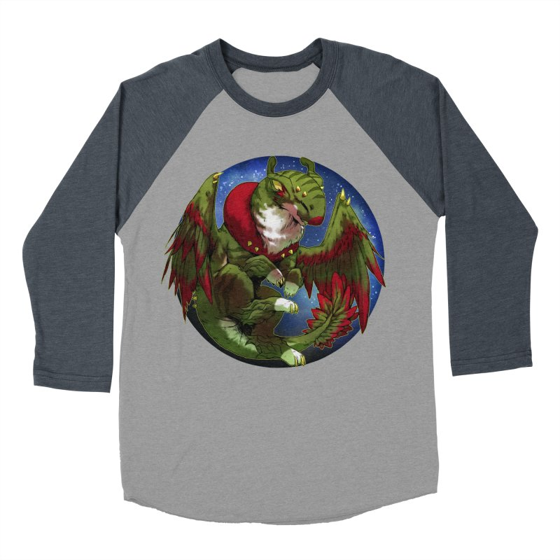 Yuletide Joy Snowglobe Men's Baseball Triblend T-Shirt by AdeptGamer's Merchandise
