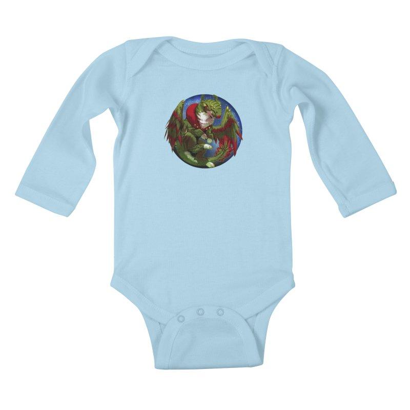Yuletide Joy Snowglobe Kids Baby Longsleeve Bodysuit by AdeptGamer's Merchandise