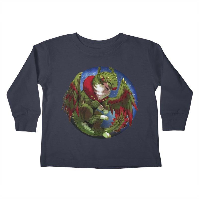 Yuletide Joy Snowglobe Kids Toddler Longsleeve T-Shirt by AdeptGamer's Merchandise