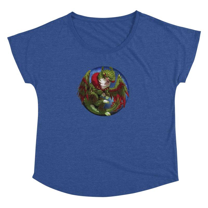 Yuletide Joy Snowglobe Women's Dolman Scoop Neck by AdeptGamer's Merchandise