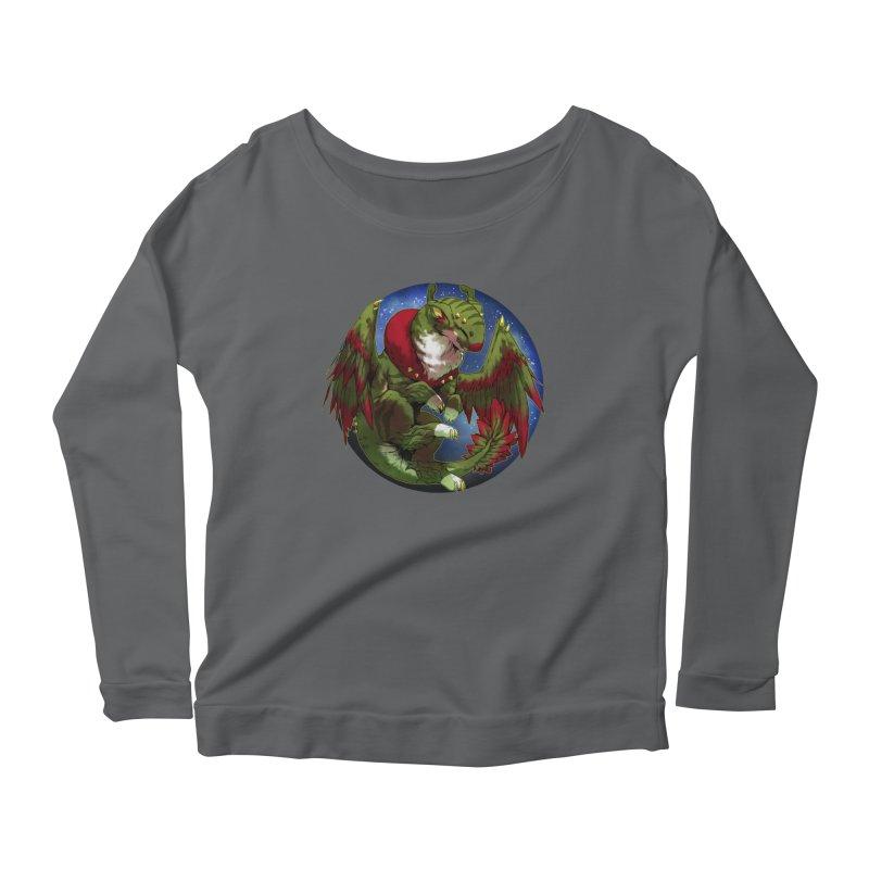 Yuletide Joy Snowglobe Women's Scoop Neck Longsleeve T-Shirt by AdeptGamer's Merchandise