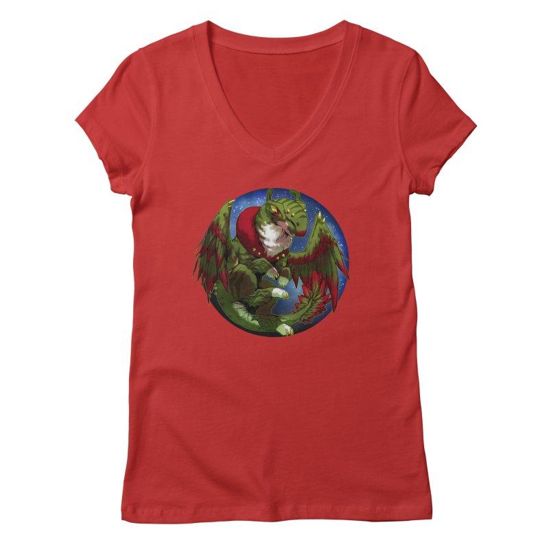 Yuletide Joy Snowglobe Women's Regular V-Neck by AdeptGamer's Merchandise