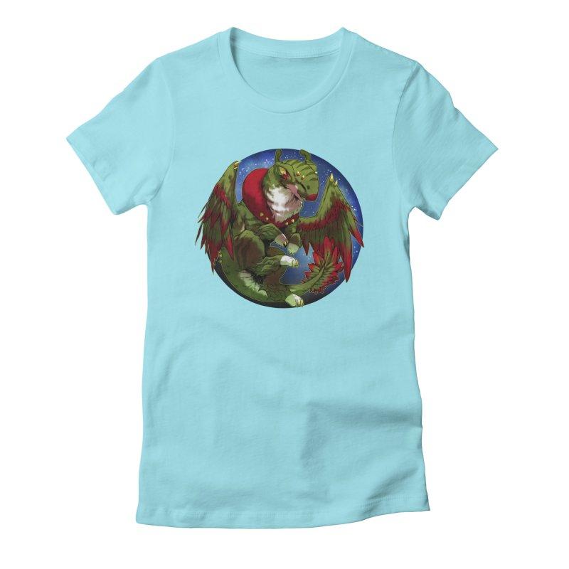 Yuletide Joy Snowglobe Women's Fitted T-Shirt by AdeptGamer's Merchandise