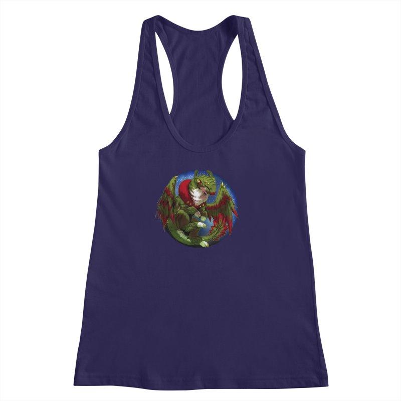 Yuletide Joy Snowglobe Women's Racerback Tank by AdeptGamer's Merchandise