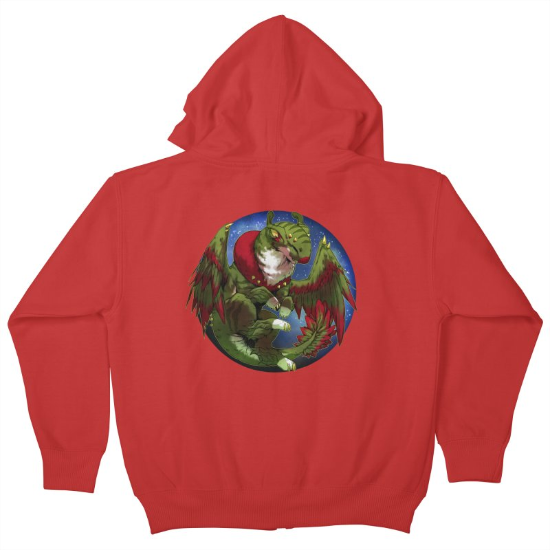 Yuletide Joy Snowglobe Kids Zip-Up Hoody by AdeptGamer's Merchandise