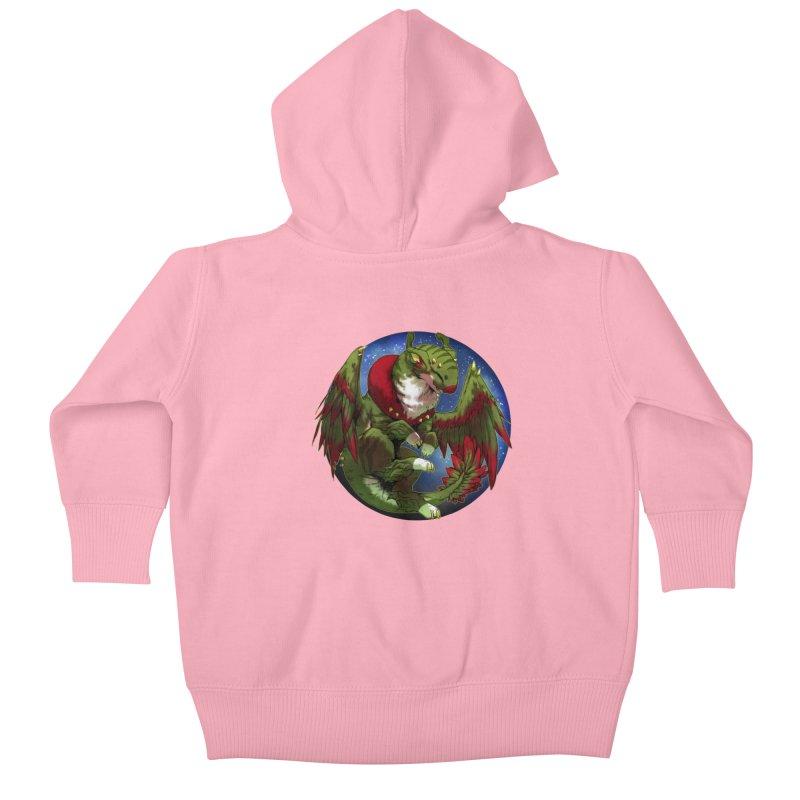 Yuletide Joy Snowglobe Kids Baby Zip-Up Hoody by AdeptGamer's Merchandise