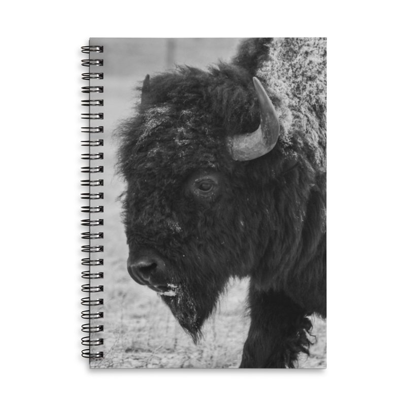 Winter Bison Cards & Gifts Notebook by Glassmeyer Photography Print and Gift Shop