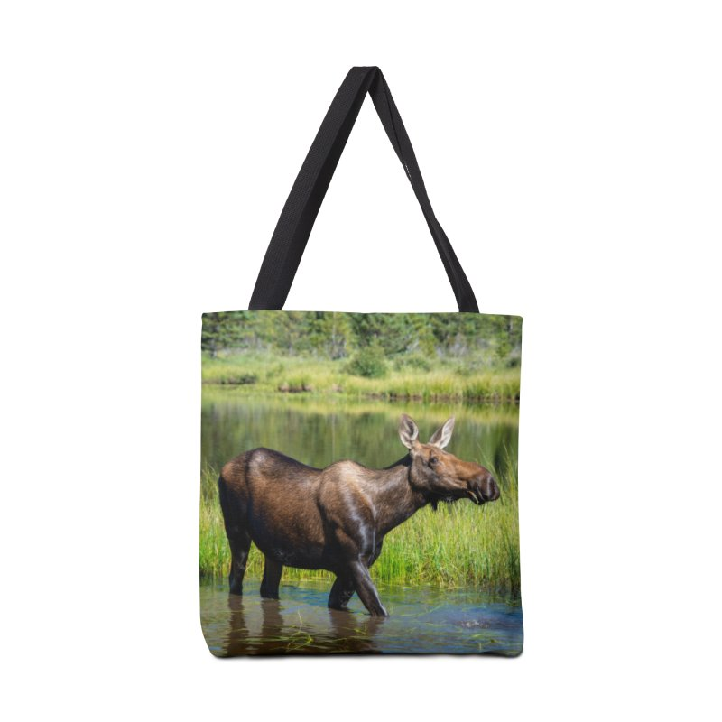 Grazing Moose Cards & Gifts Bag by Glassmeyer Photography Print and Gift Shop