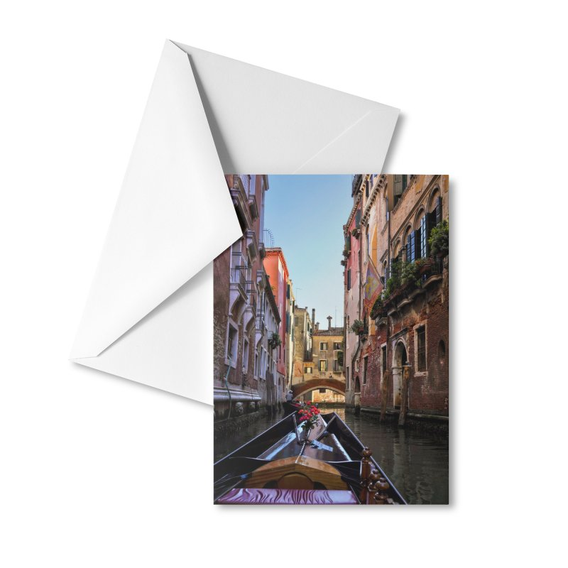 Venetian Gondola Ride Cards & Gifts Greeting Card by Glassmeyer Photography Print and Gift Shop