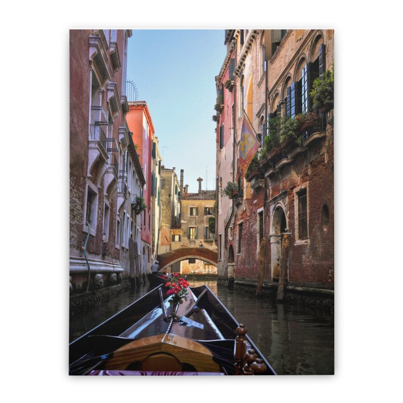 Venetian Gondola Ride Prints Stretched Canvas by Glassmeyer Photography Print and Gift Shop