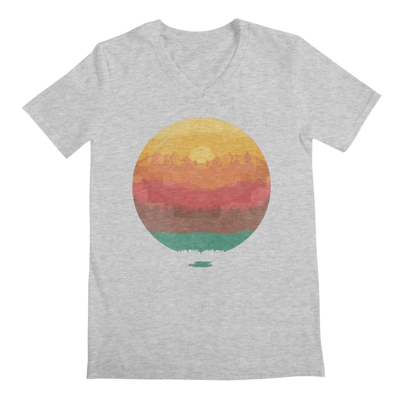 Layers Of Nature Men's V-Neck by adilsiddiqui's Artist Shop