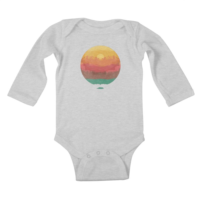Layers Of Nature Kids Baby Longsleeve Bodysuit by adilsiddiqui's Artist Shop