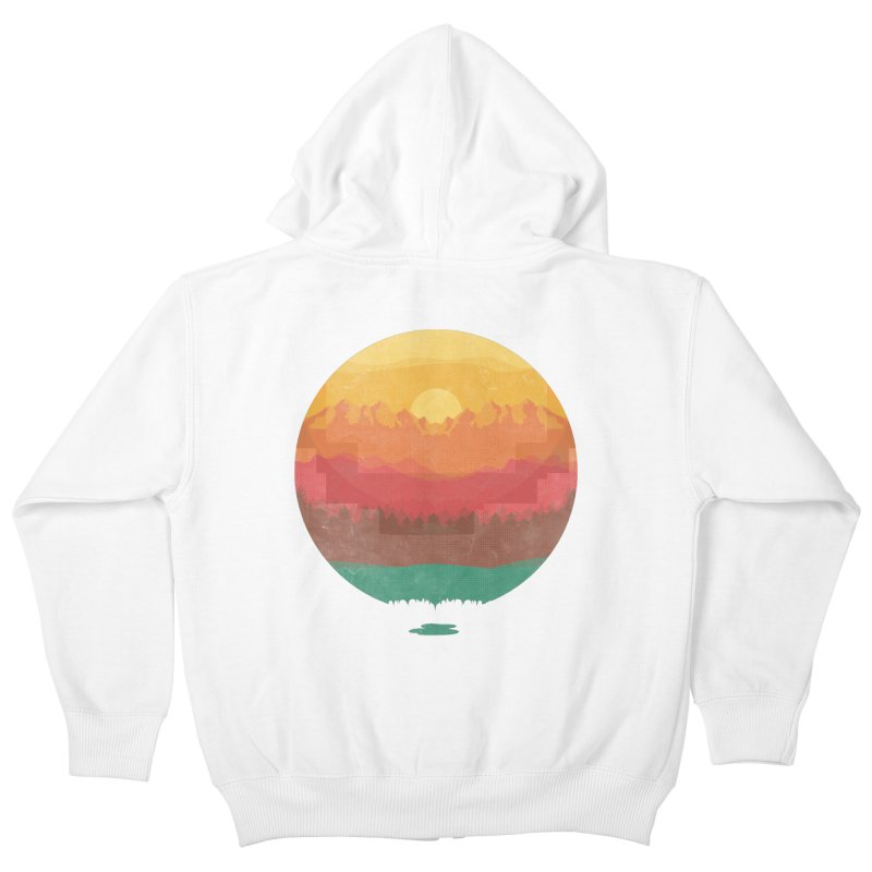 Layers Of Nature Kids Zip-Up Hoody by adilsiddiqui's Artist Shop
