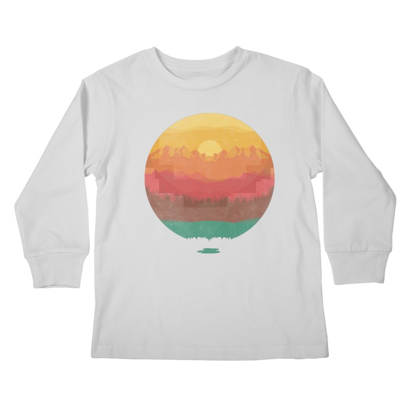 Layers Of Nature Kids Longsleeve T-Shirt by adilsiddiqui's Artist Shop