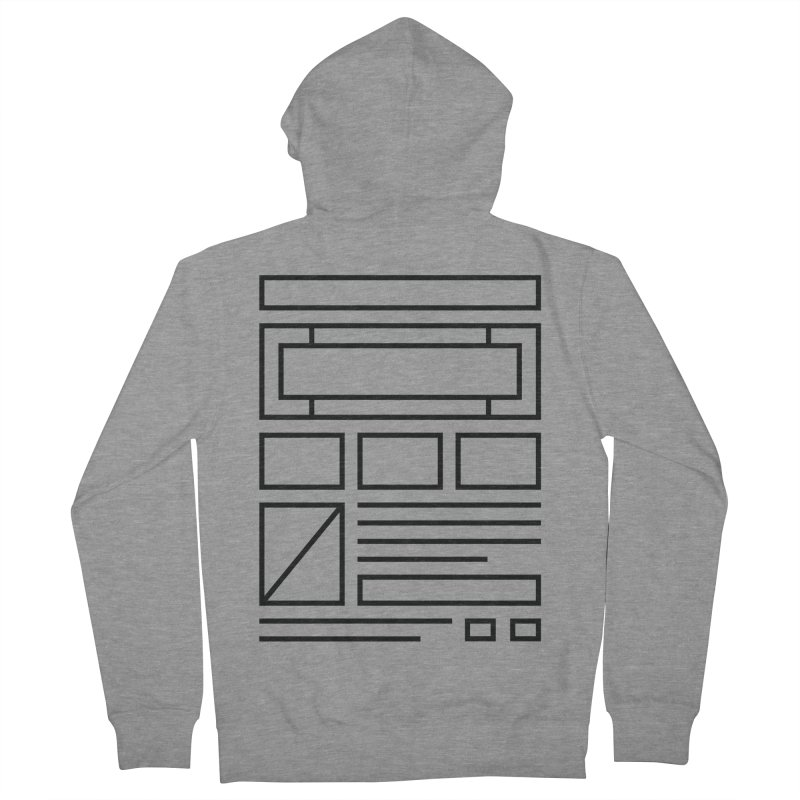 Wireframe Women's Zip-Up Hoody by adilsiddiqui's Artist Shop