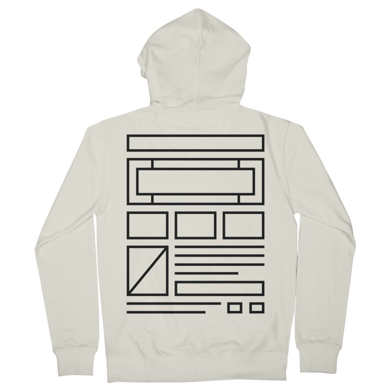 Wireframe Men's Zip-Up Hoody by adilsiddiqui's Artist Shop
