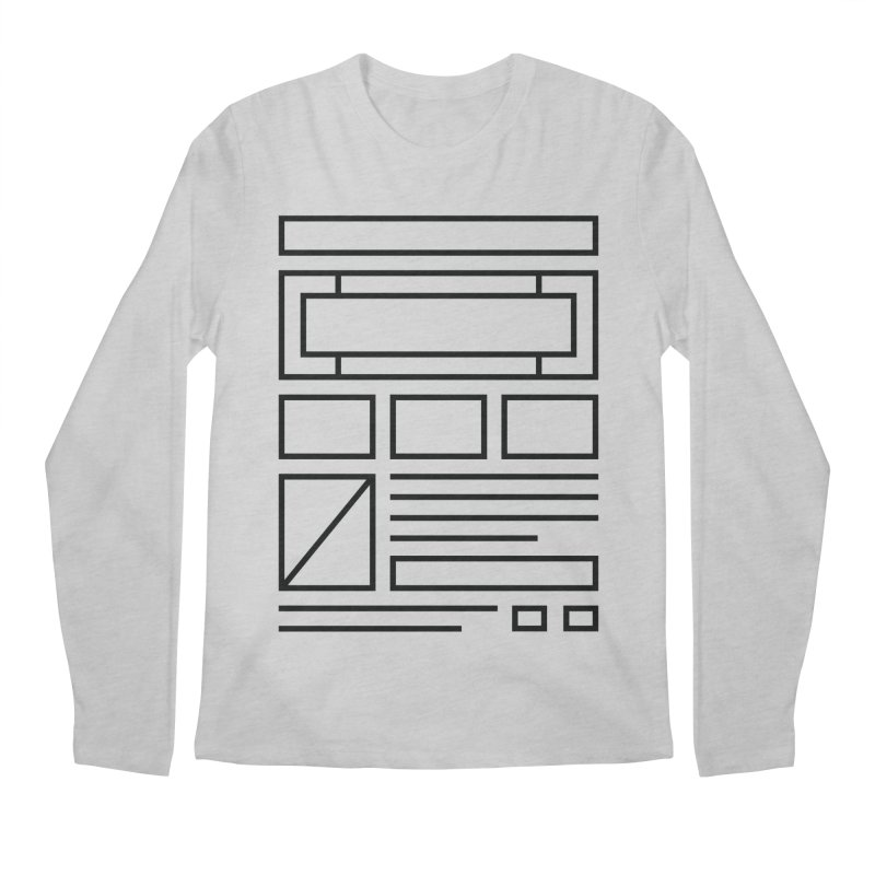 Wireframe Men's Longsleeve T-Shirt by adilsiddiqui's Artist Shop
