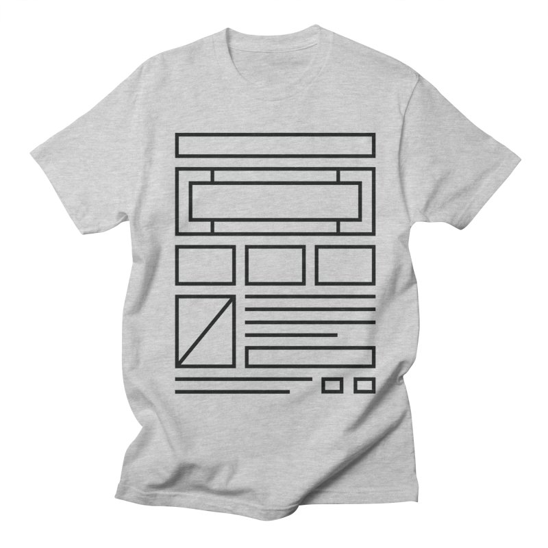 Wireframe Men's T-Shirt by adilsiddiqui's Artist Shop