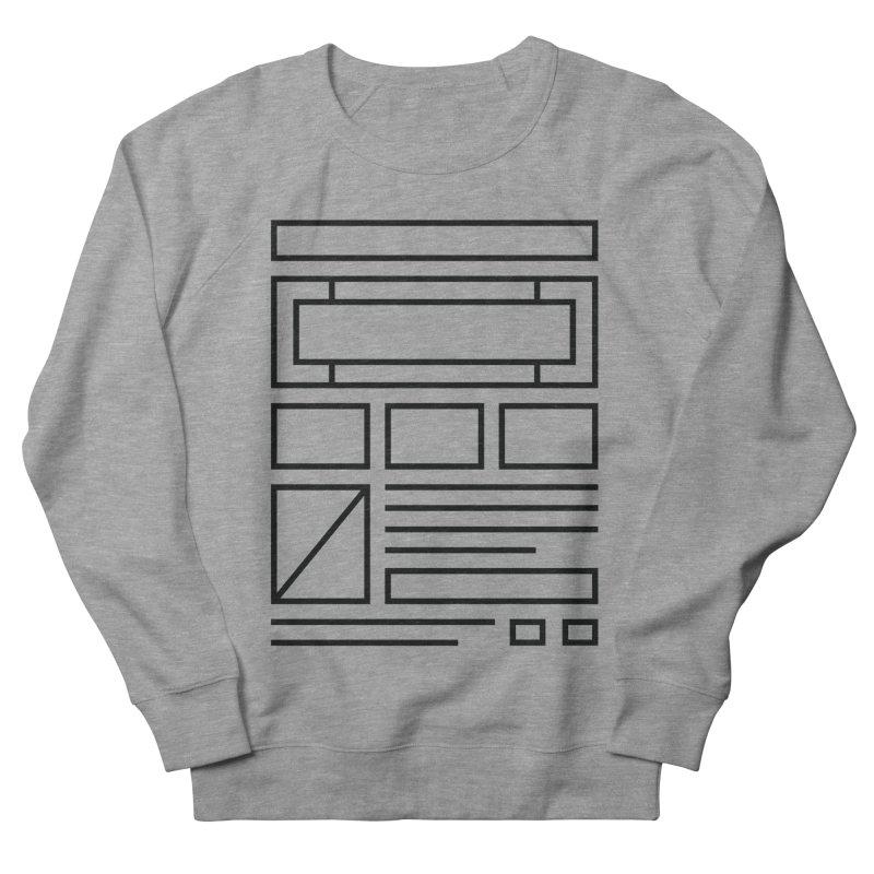 Wireframe Men's Sweatshirt by adilsiddiqui's Artist Shop