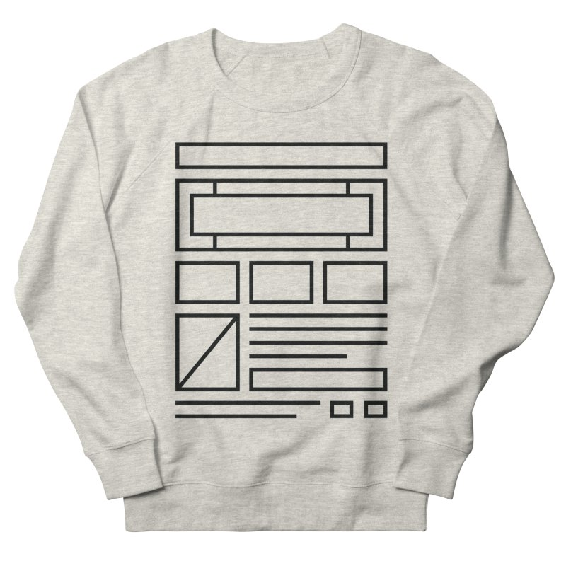Wireframe Men's Sweatshirt by adilsiddiqui's Artist Shop
