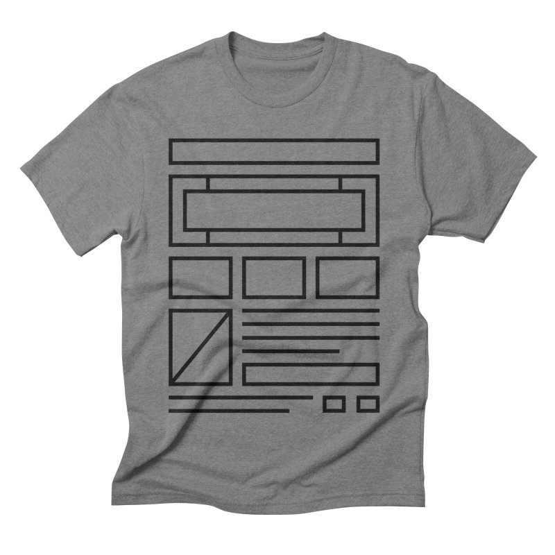 Wireframe Men's Triblend T-Shirt by adilsiddiqui's Artist Shop