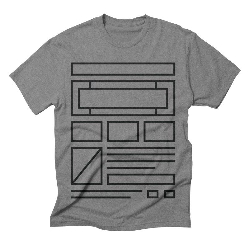Wireframe Men's Triblend T-shirt by adilsiddiqui's Artist Shop