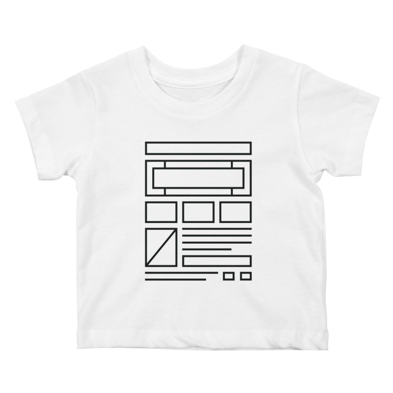 Wireframe Kids Baby T-Shirt by adilsiddiqui's Artist Shop