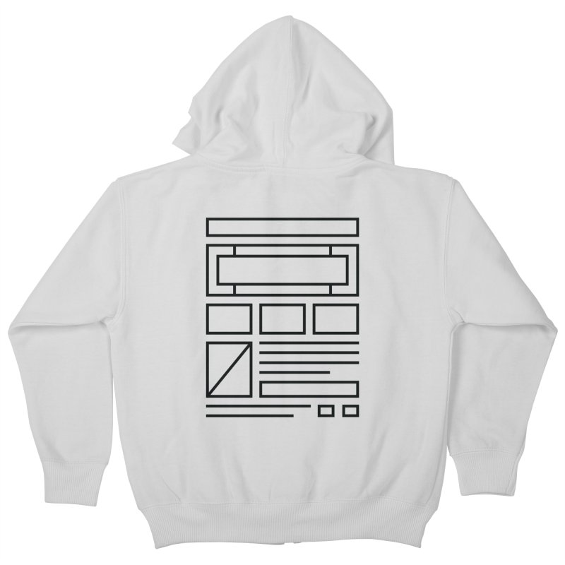 Wireframe Kids Zip-Up Hoody by adilsiddiqui's Artist Shop