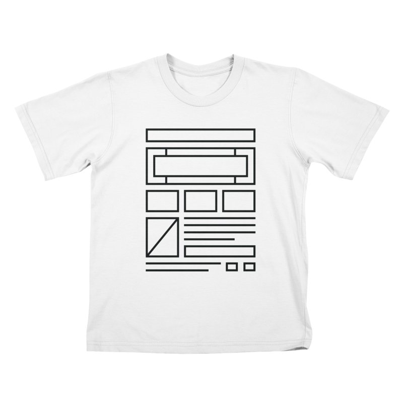 Wireframe Kids T-shirt by adilsiddiqui's Artist Shop