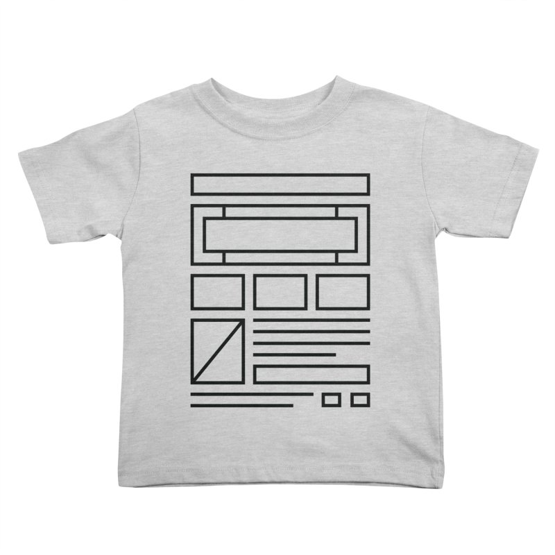 Wireframe Kids Toddler T-Shirt by adilsiddiqui's Artist Shop