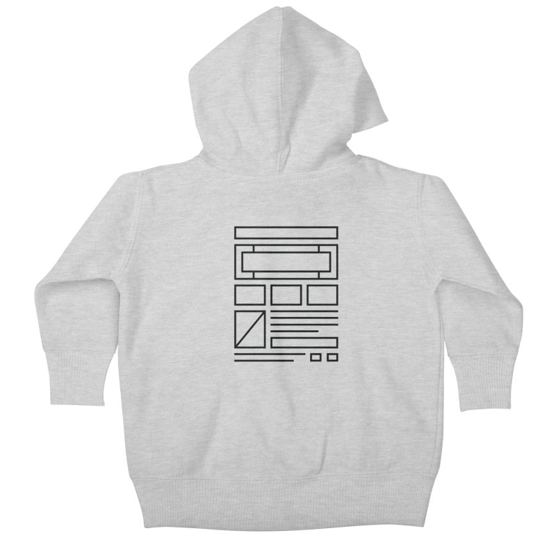 Wireframe Kids Baby Zip-Up Hoody by adilsiddiqui's Artist Shop