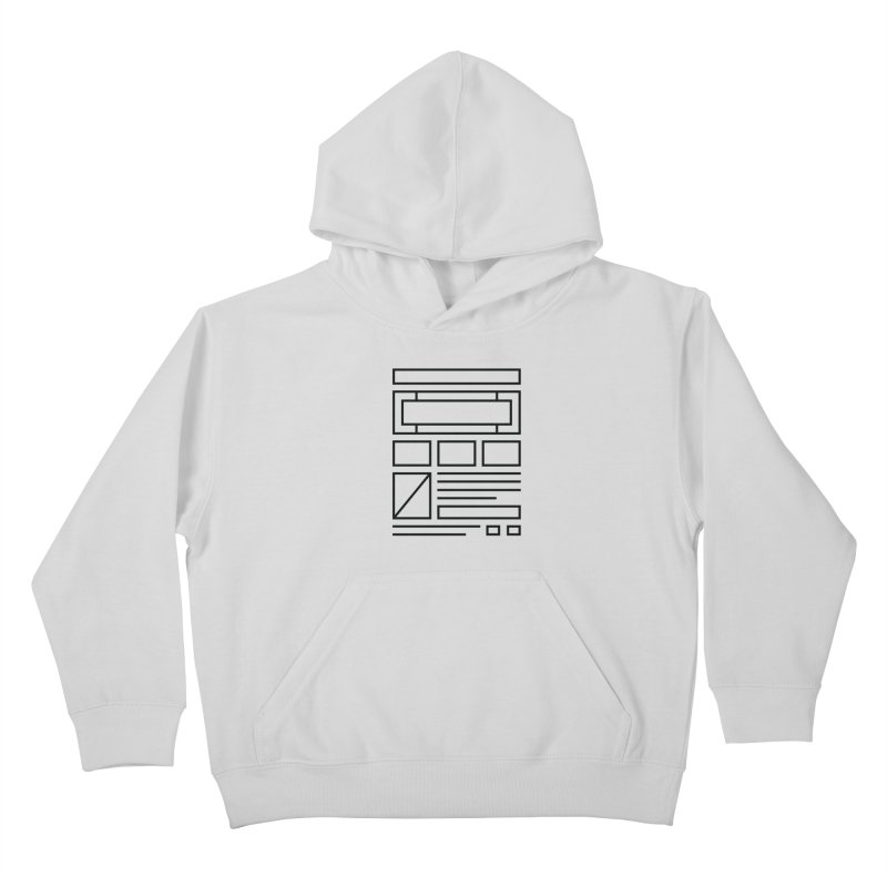Wireframe Kids Pullover Hoody by adilsiddiqui's Artist Shop