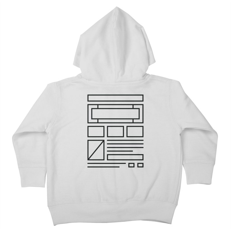 Wireframe Kids Toddler Zip-Up Hoody by adilsiddiqui's Artist Shop