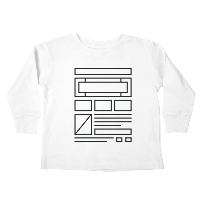 Wireframe Kids Toddler Longsleeve T-Shirt by adilsiddiqui's Artist Shop