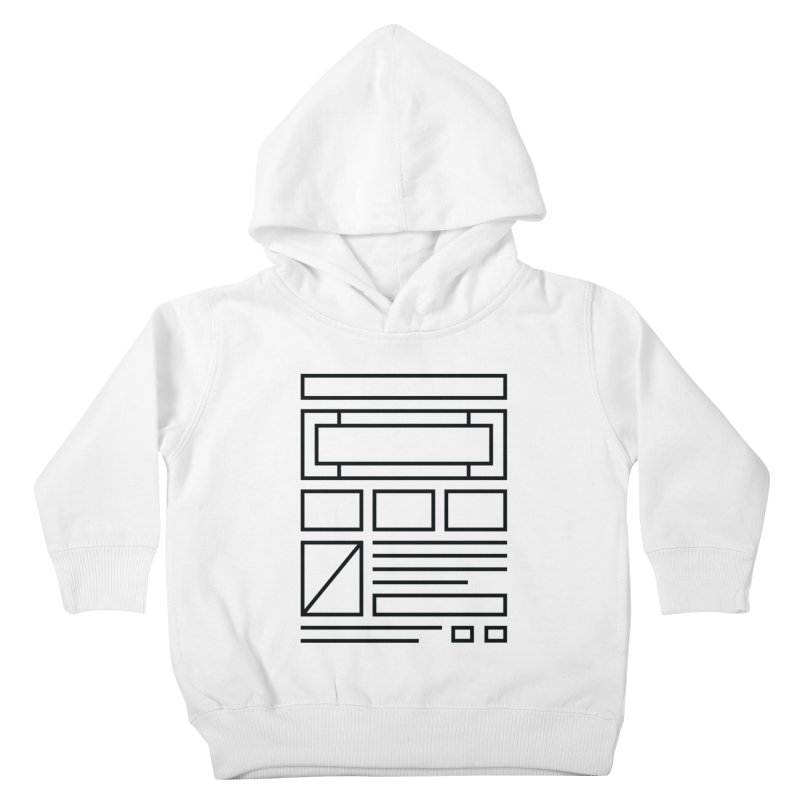 Wireframe Kids Toddler Pullover Hoody by adilsiddiqui's Artist Shop