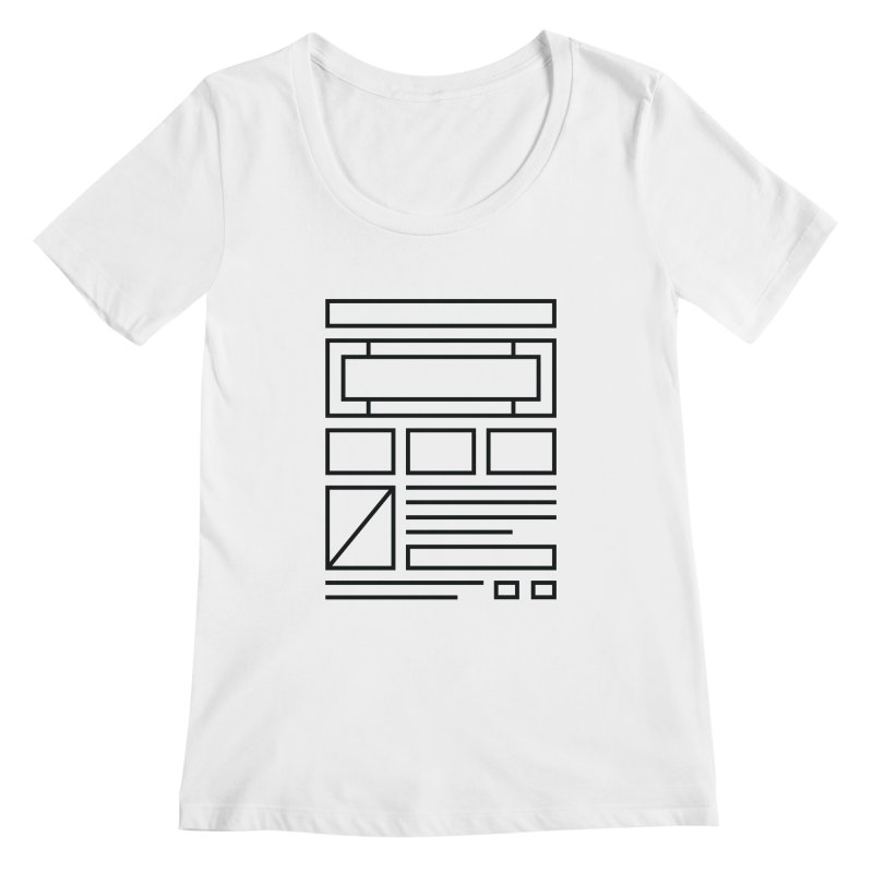 Wireframe Women's Scoopneck by adilsiddiqui's Artist Shop