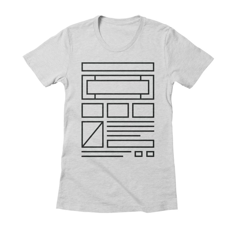 Wireframe Women's Fitted T-Shirt by adilsiddiqui's Artist Shop