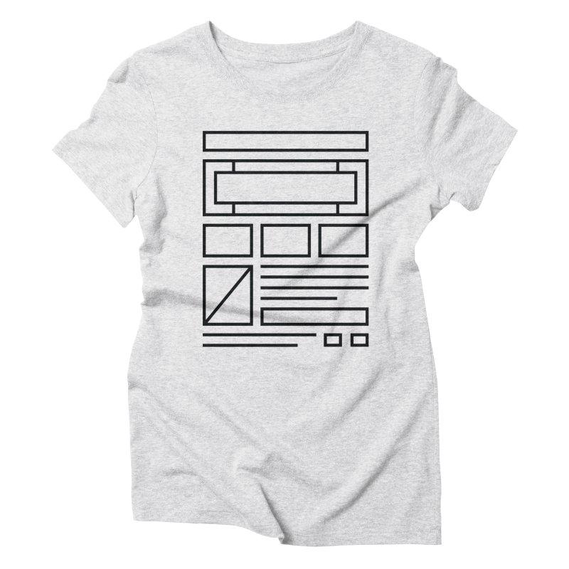 Wireframe Women's Triblend T-shirt by adilsiddiqui's Artist Shop
