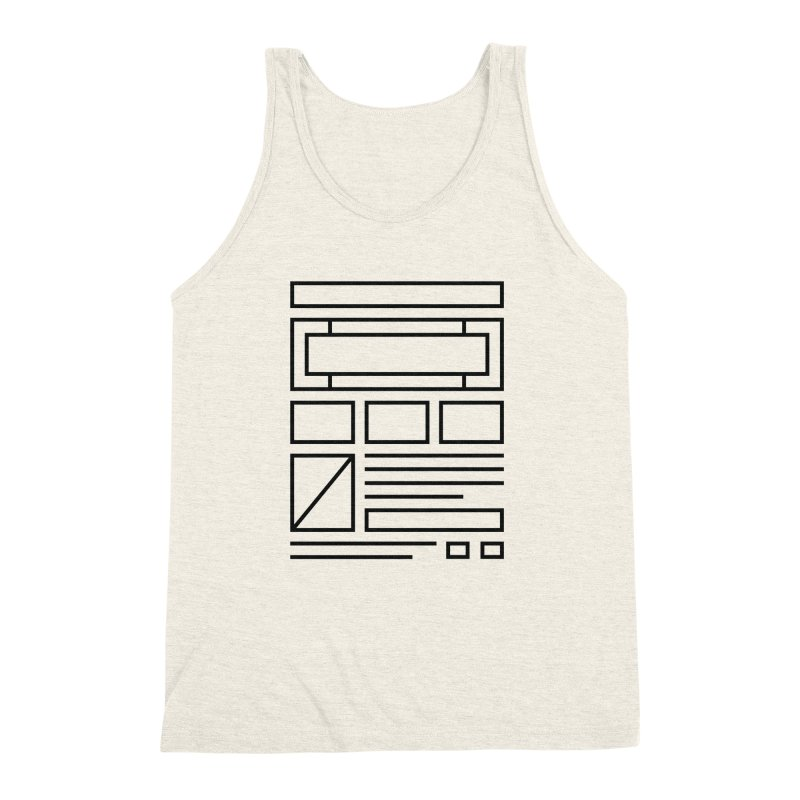 Wireframe Men's Triblend Tank by adilsiddiqui's Artist Shop