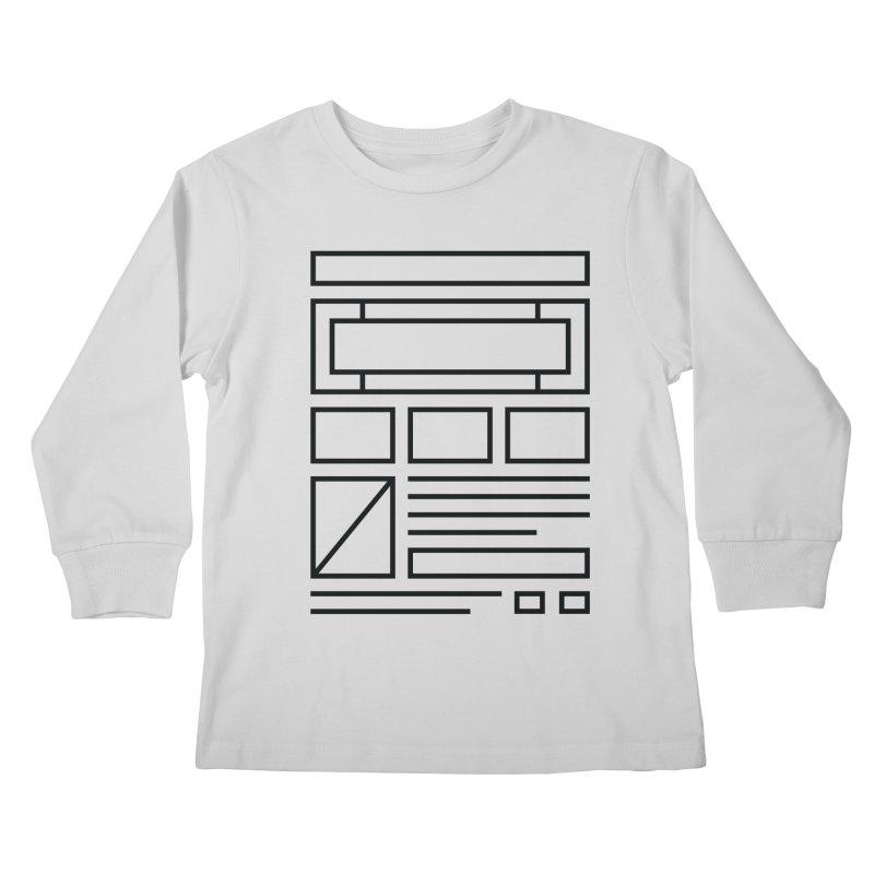 Wireframe Kids Longsleeve T-Shirt by adilsiddiqui's Artist Shop