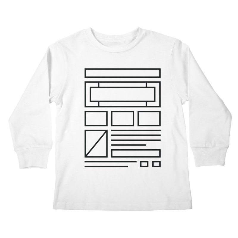 Wireframe Kids Longsleeve T-Shirt by adilsiddiqui's Artist Shop