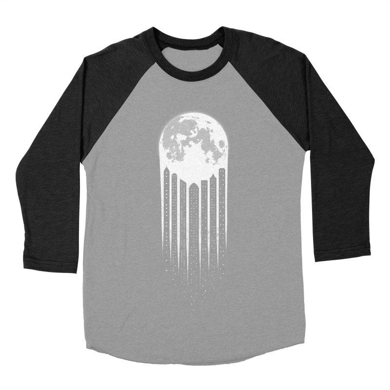 Moon City Men's Baseball Triblend T-Shirt by adilsiddiqui's Artist Shop
