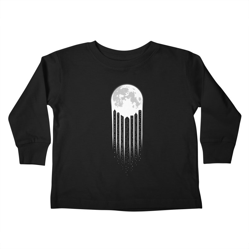 Moon City Kids Toddler Longsleeve T-Shirt by adilsiddiqui's Artist Shop