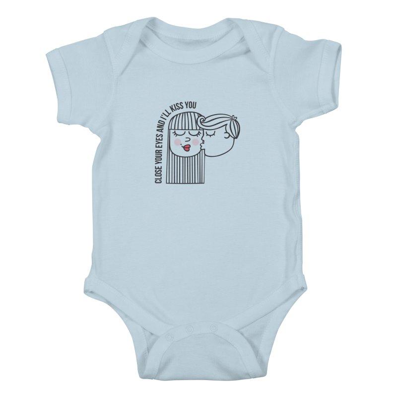 Close your eyes Kids Baby Bodysuit by adrianachionetti's Artist Shop