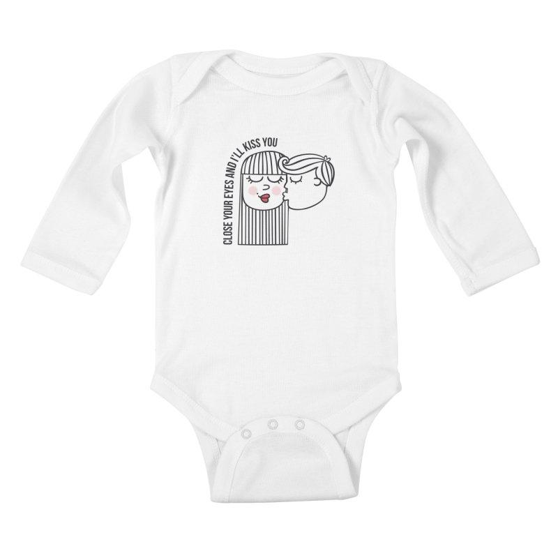 Close your eyes Kids Baby Longsleeve Bodysuit by adrianachionetti's Artist Shop