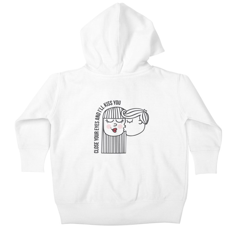 Close your eyes Kids Baby Zip-Up Hoody by adrianachionetti's Artist Shop