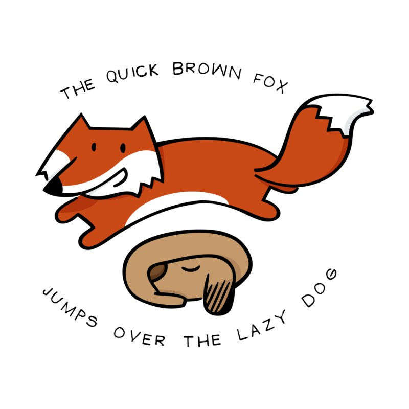 The quick brown fox by adrianachionetti's Artist Shop